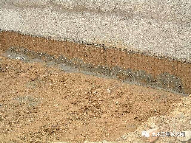 4、质量要求      2、土钉墙工艺流程   土方开挖按照图纸进行放坡修坡平整土钉成孔、钢筋网片、土钉制作土钉成孔、钢筋验收安装钢筋网片及土钉土钉注浆绑扎横向加强筋喷射