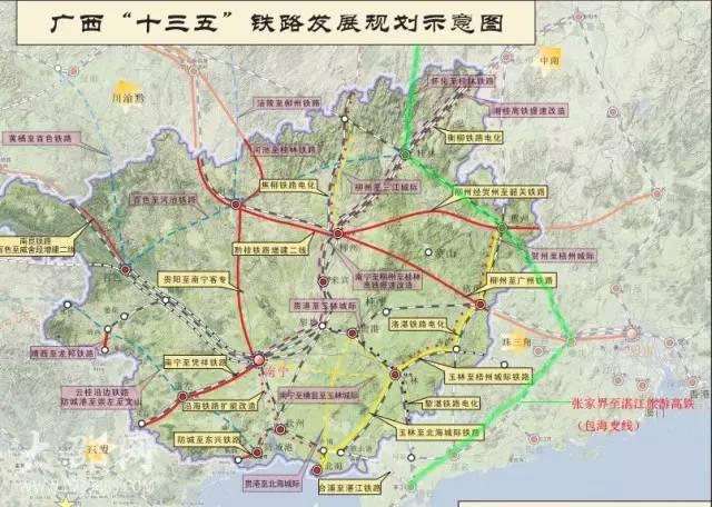 广西手绘高清地图
