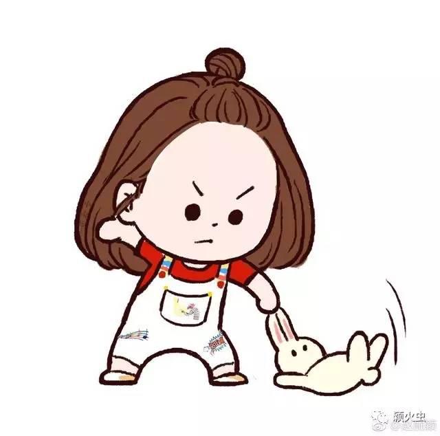 是不是_哈哈哈,颖宝太可爱了,是不是被自己的漫画萌到了,赶紧偷图发个微博.