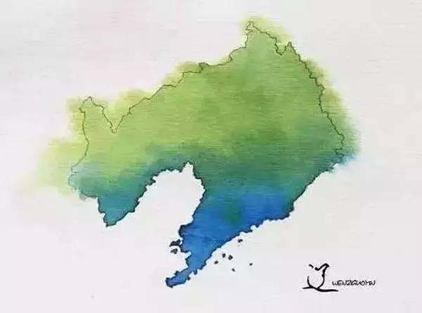 水墨版中国34个省级行政区地图,来看看我家昭通什么样