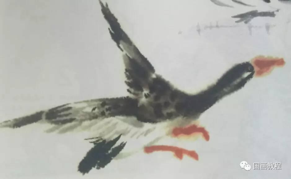 怎样画麻雀 大雁