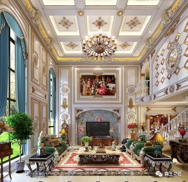 欧式风格客厅非常需要用家具和软装饰来营造整体效果.
