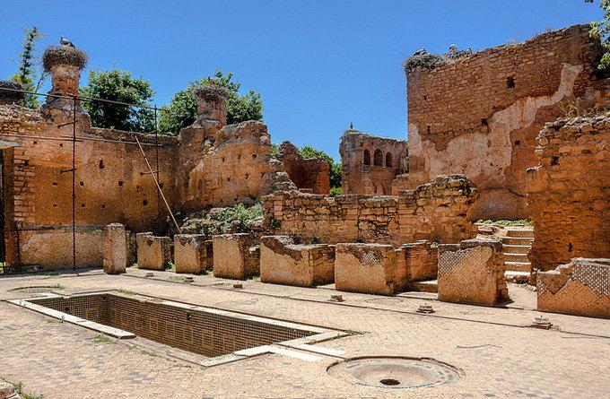 鸟瞰舍拉废墟遗址,经典建筑痕迹还依稀可循