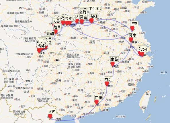 广西越南旅游地图