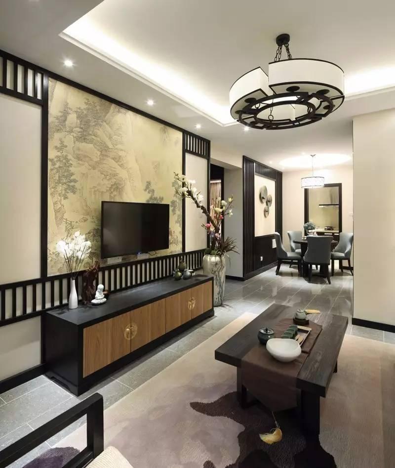 新中式电视墙,这样搭配叫做简单美!