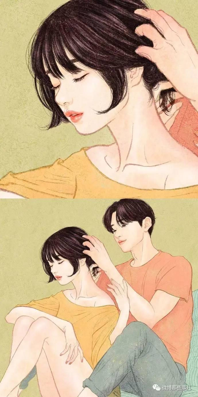 韩国插画师zipcy的作品 ,美好而又甜蜜的情侣日常 ,好羡慕!