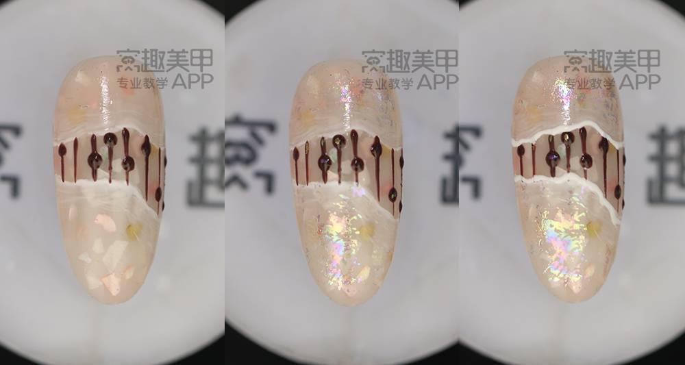 【窝趣美甲石纹质感】视频磨砂贝壳教程甲android教程游戏视频图片