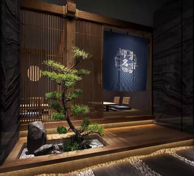 元素和日本平面营造的日料店效果图v元素报告厅禅意设计图图片