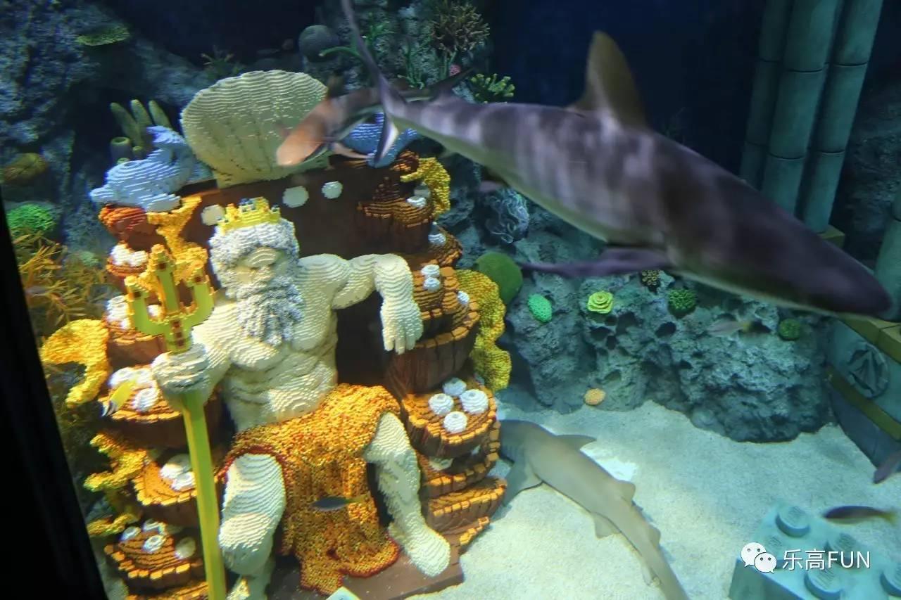 潜艇项目时可以看到在鲨鱼游弋的地方有个乐高雕的海王