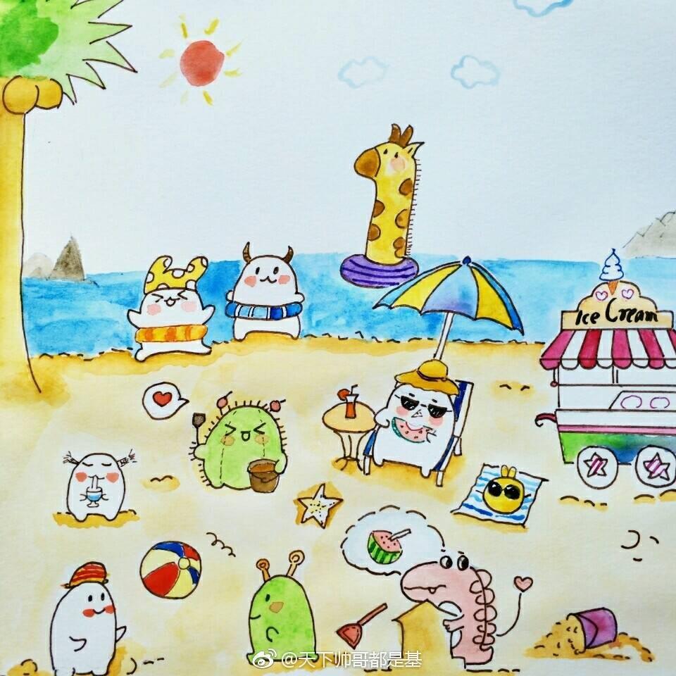 怪兽动物园邀请你一起学画画,跟夏七酱学画画第七弹!