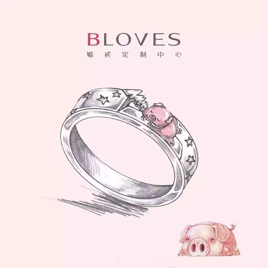bloves丨手绘稿合集,你喜欢的婚戒,我都有!