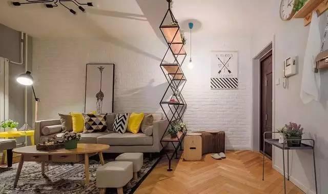 84平清新北欧小两居,创意入户玄关设计值得借鉴!