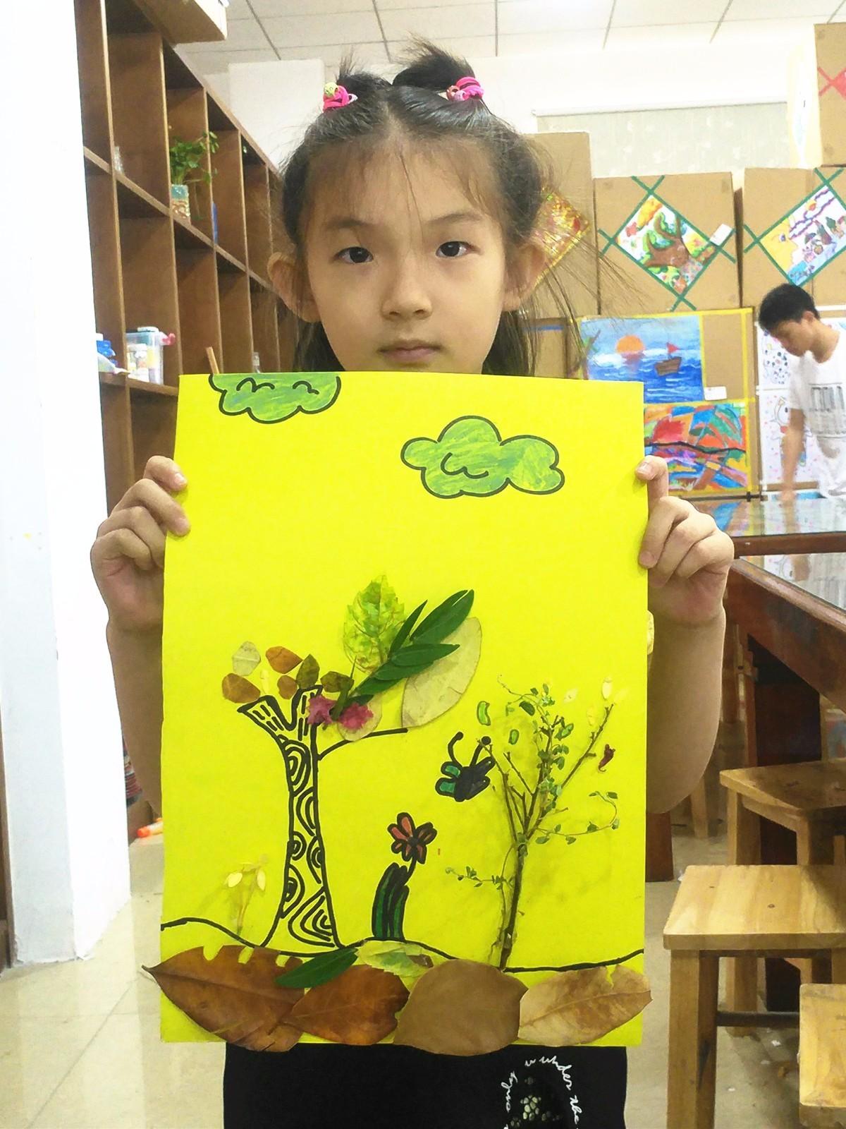 树叶拼贴画   绘画不仅能   开发儿 创意石头画   绘画是一种复杂的精