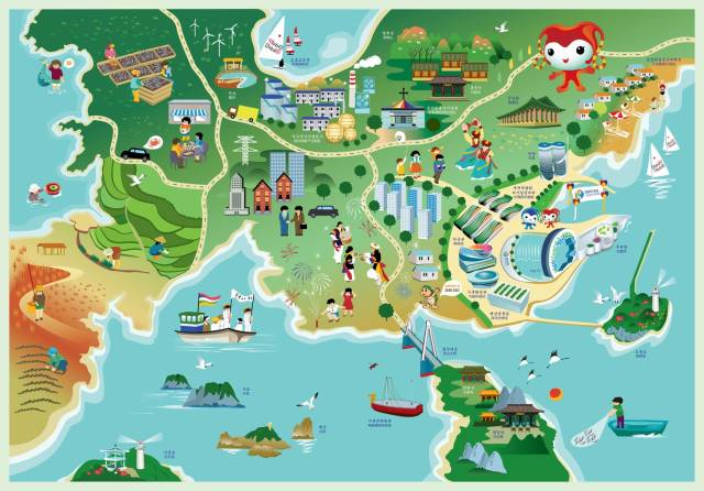 文化 正文  汕头老市区手绘地图《印记鮀城》 (来源:room114公众号)
