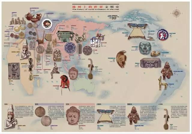 手绘环球文明史—世界地图】