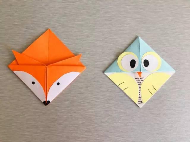 折纸狐狸书签的步骤图解