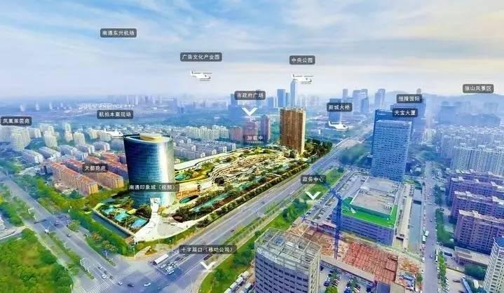 南通印象城涵盖15万方购物中心,3.5万方生态办公楼,3.