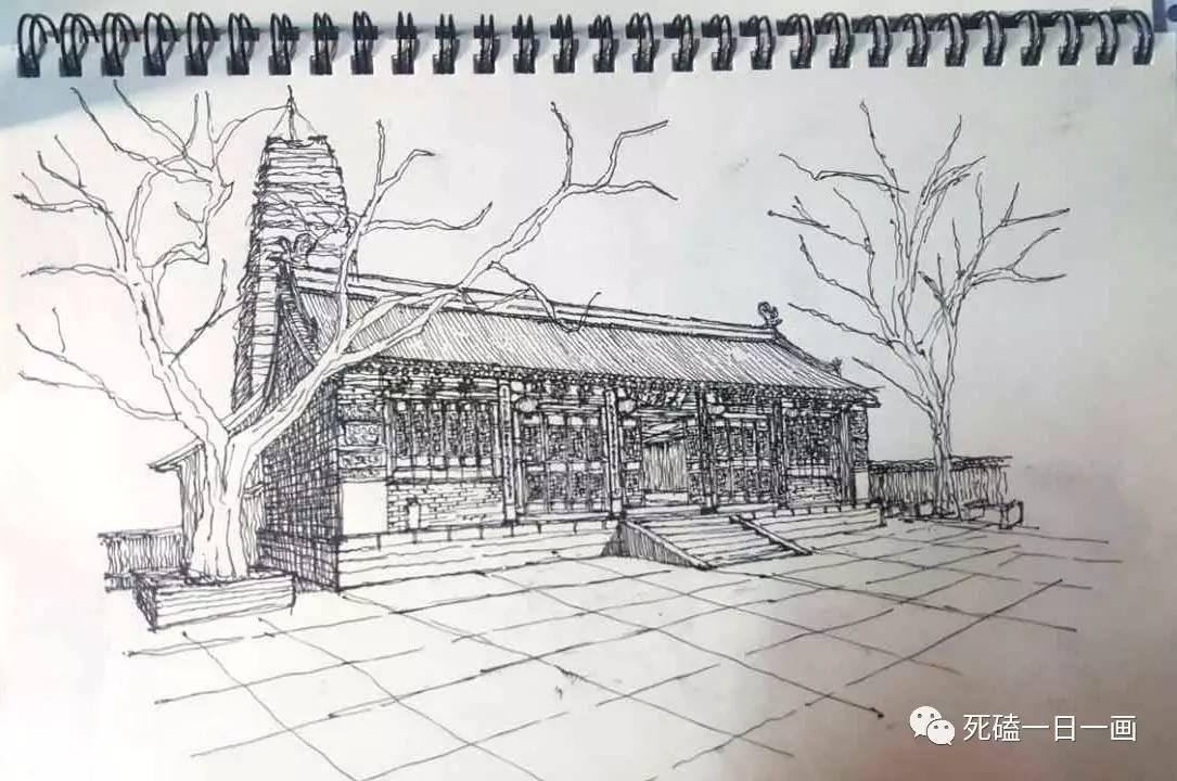 建筑手绘线稿直线