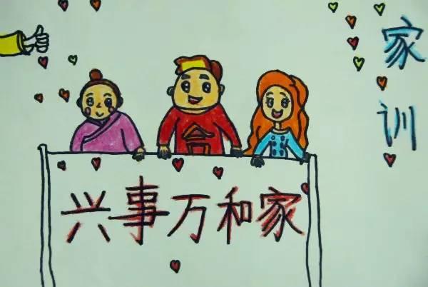 """""""好家风 好家训""""少年儿童绘画征文作品开始投票啦~(1)图片"""