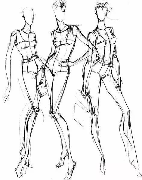 想画好时装效果图,人体结构怎么可能搞不清楚呢!