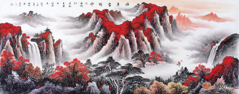 文艺 绘画艺术研究杂谈 > 山水画装饰公司大厅风景美丽更舒适