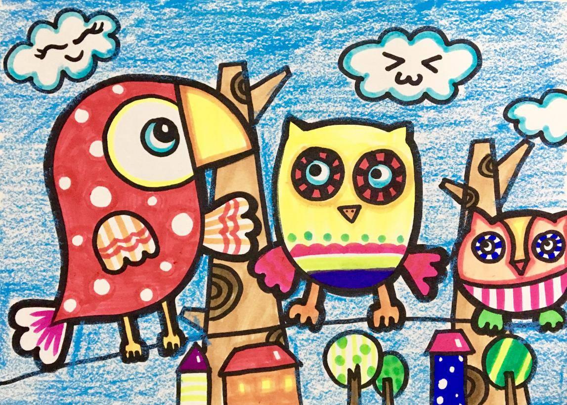 时尚 正文  在儿童画中,渐变色运用的好坏可以决定一幅画的质量和分量图片