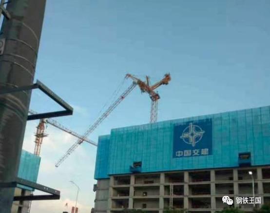 广州市海珠区中交集团南方总部基地b区项目发生一起塔吊倾斜倒塌事故