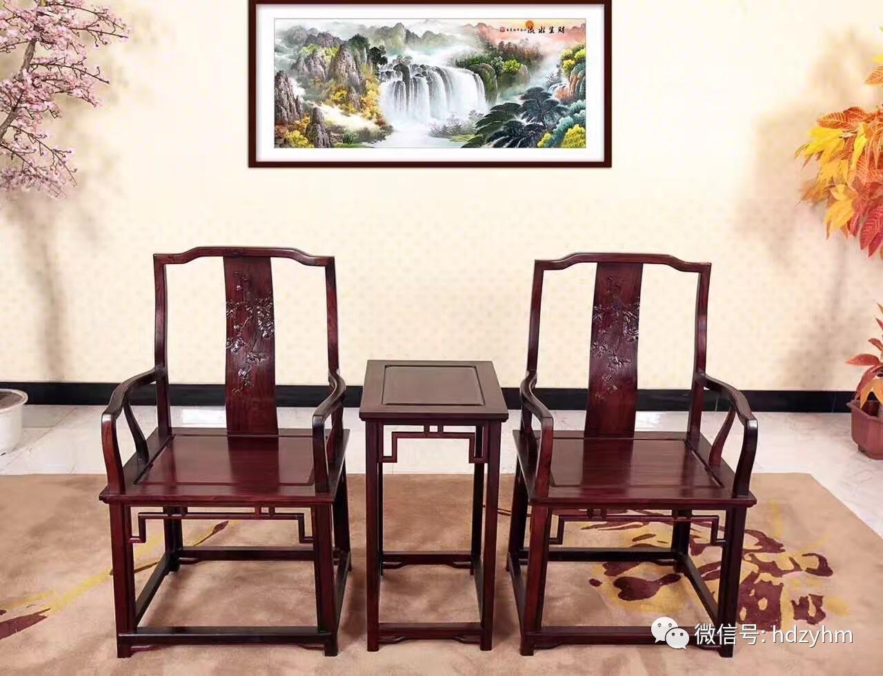 中式红木家具布置的书房,沉静悠然!
