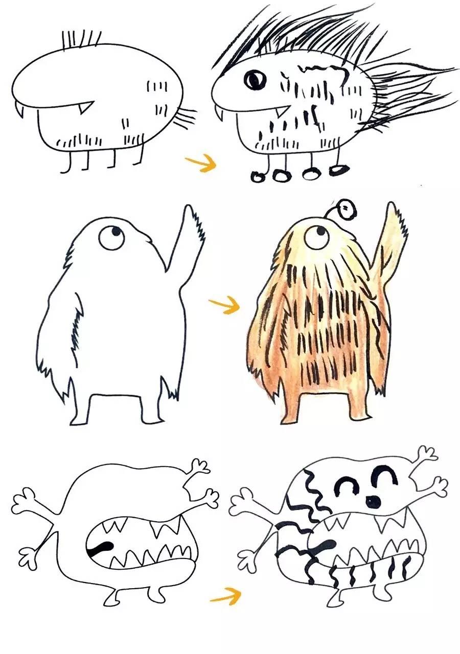 冰棍手绘创意画