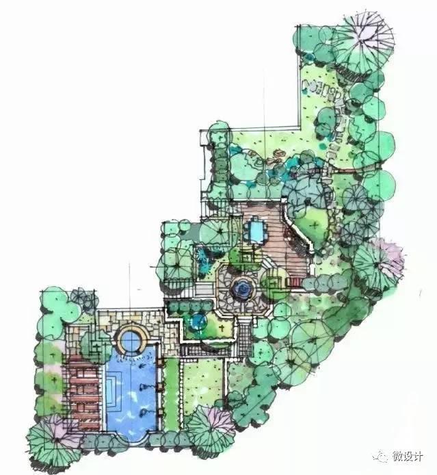 北方欧式庭院平面图