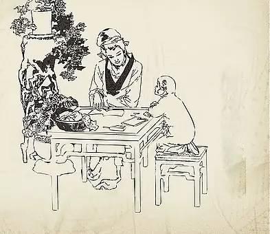 古代房子集市简笔画