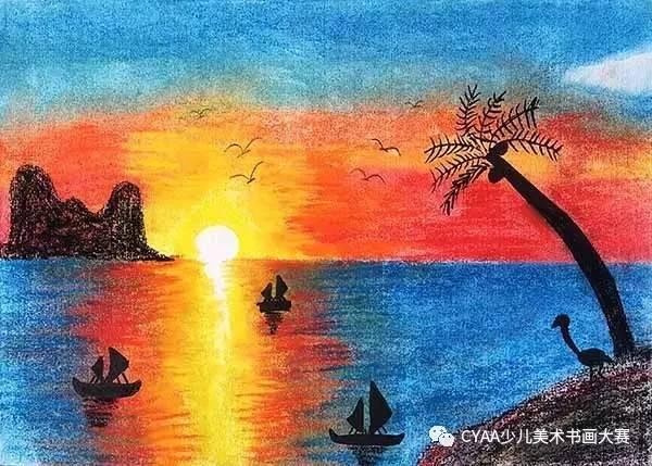 《美丽风景》 指导老师:王晓雪 j779105014 王子轩 7岁 男 水粉画