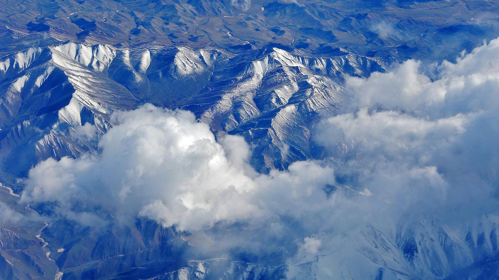 此景只应天上有,上帝视角下的新疆图片
