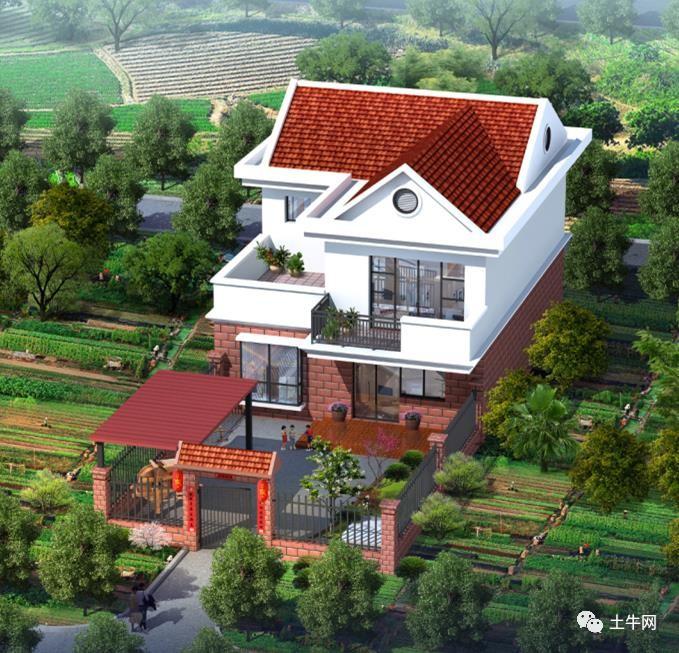 带庭院的农村小别墅,18万能建起来吗?