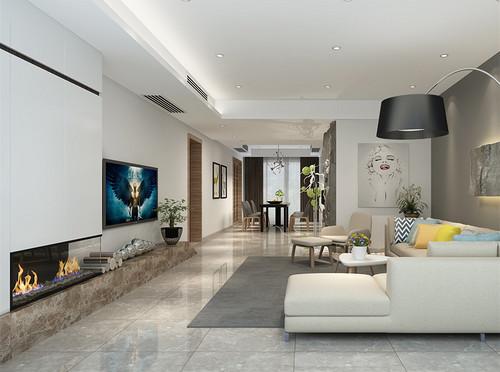 建业海马九如府176平米四室两厅两卫装修设计效果图