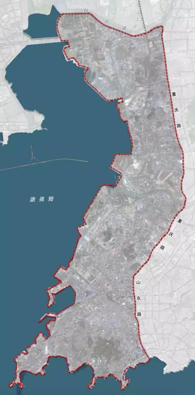 规划范围 规划将青岛市近现代工业文化遗存较为聚集,老企业搬迁较为