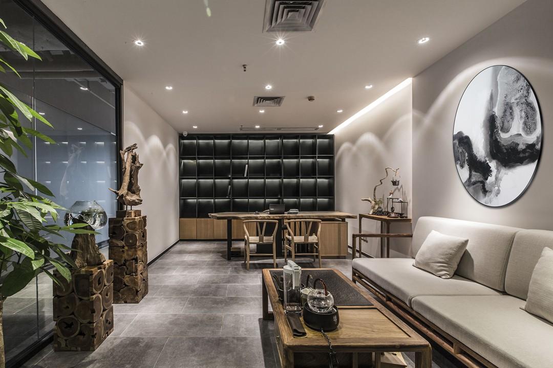 500平方新中式办公室装修 有格调有气质