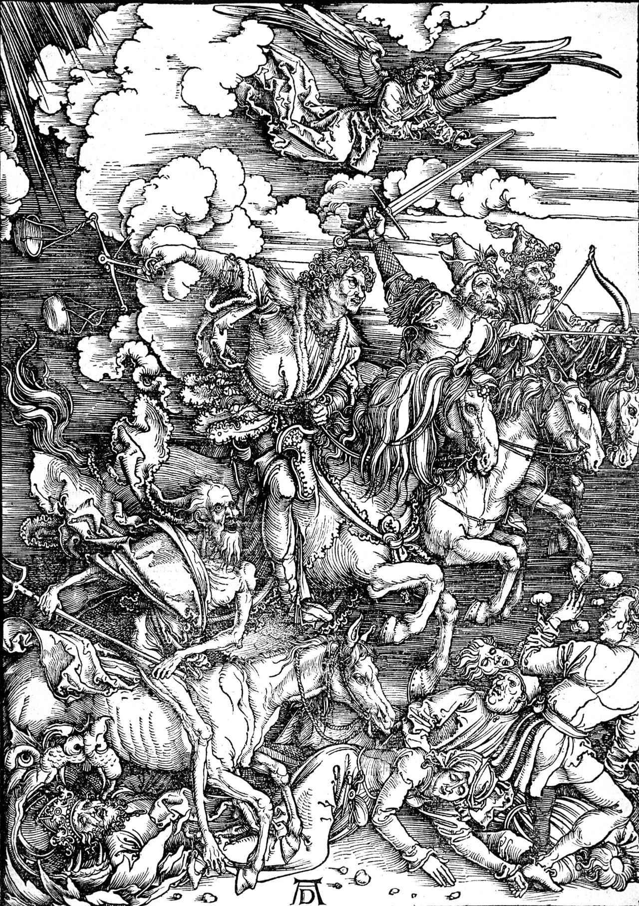 《启示录》中的《四骑士》(1498年)图片