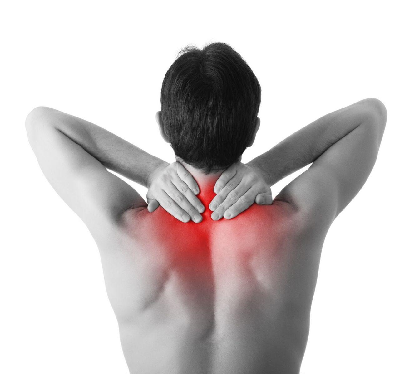 颈椎疼痛手绘图