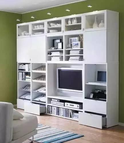 """diy电视背景墙,发掘客厅收纳""""新""""空间"""