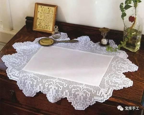 蕾丝||钩针清爽蕾丝桌垫饰品31款