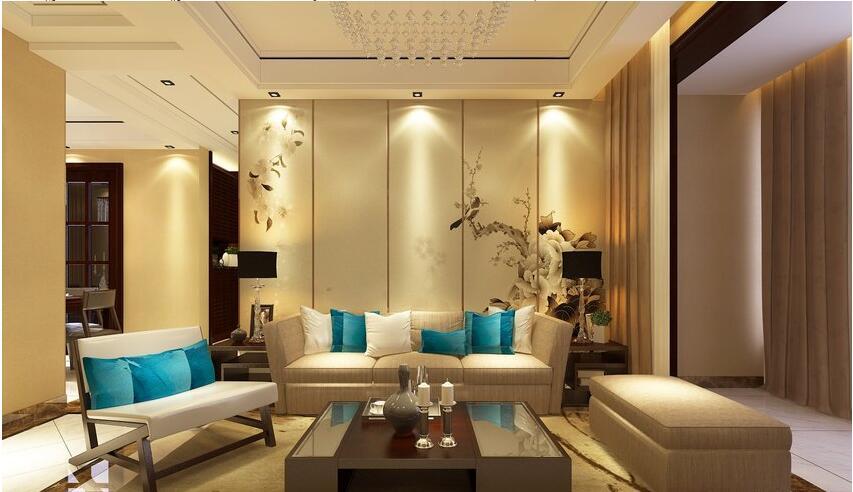 新乡120平新中式风格,时尚前卫,品位非凡---沙发背景墙图片