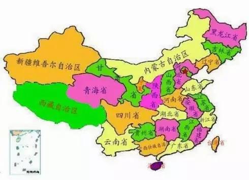 而吃货眼中的中国地图却是这样的