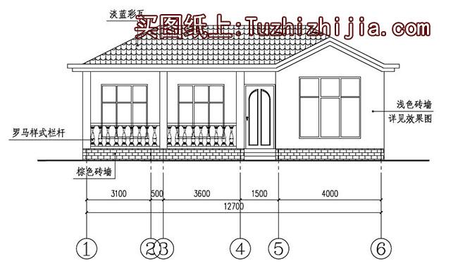 新农村自建平房施工建筑图,外观精致,布局合理!