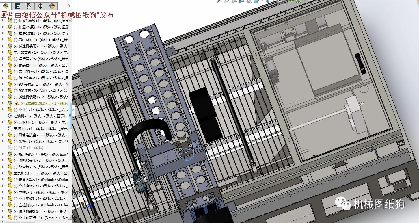 【工程机械*众】激光切割机(齿条式)3d模型图纸 solidworks设计