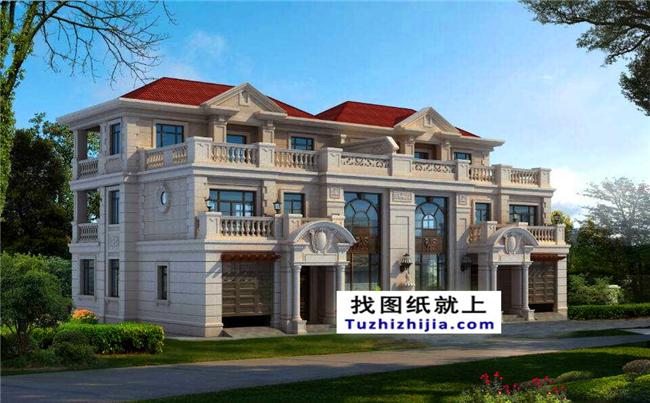 新农村三层双拼建筑设计图,绝对的良心代表作!