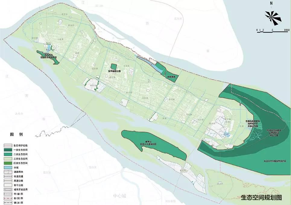 发展方向及目标:世界级生态岛 △崇明乡村俯瞰图 20-25万人,主要包含