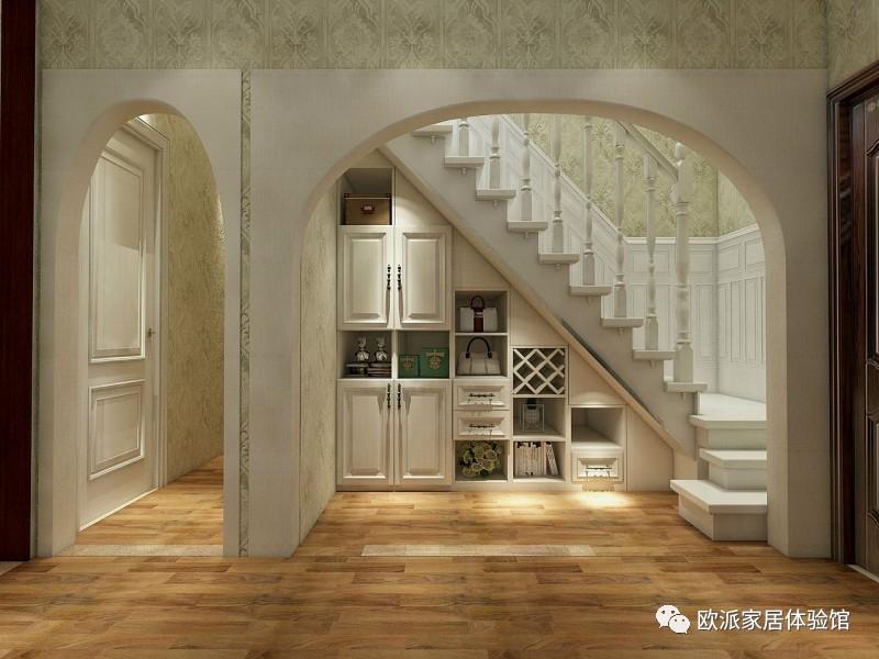 楼梯下酒柜设计效果图