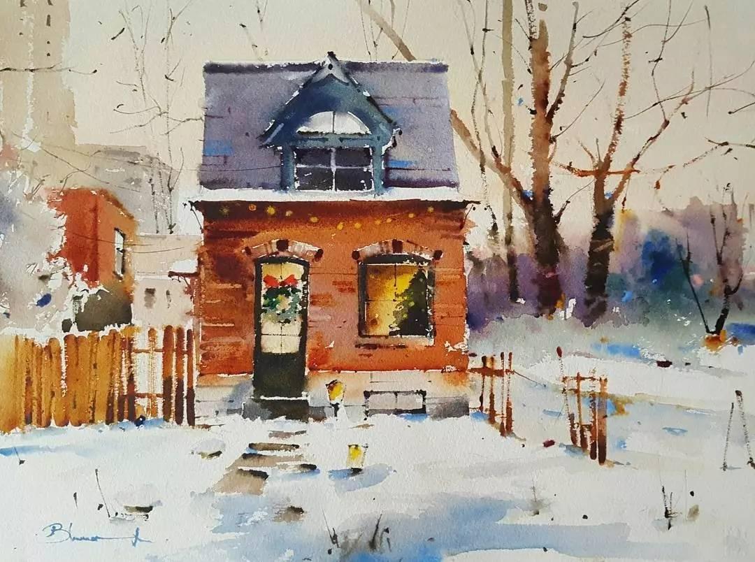 水彩插画师 漂亮的水彩,平静的画面 是他画作的特点 看看他画的风景吧