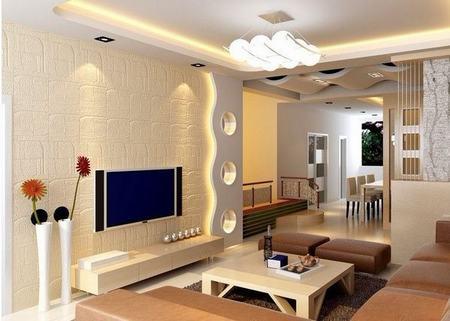 客厅电视背景墙设计经典 客厅装修就要炫酷